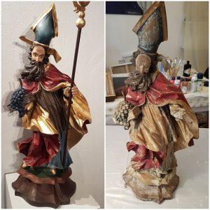 Restaurierung Heiligenstatue